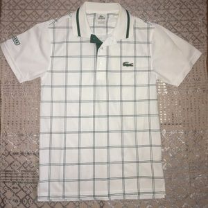 Lacoste golf style polo size 2 men's green stripes